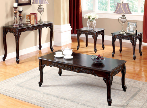 Cheshire Dark Cherry 3 Pc. Coffee Table Set image