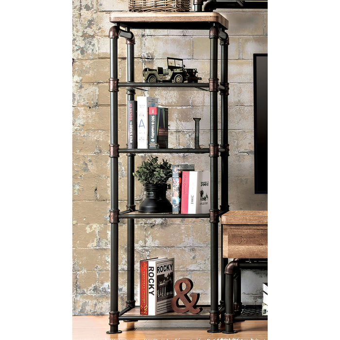 Kebbyll Antique Black/Natural Tone Pier Cabinet image