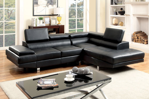 Kemina Black Sectional + Speaker Console image