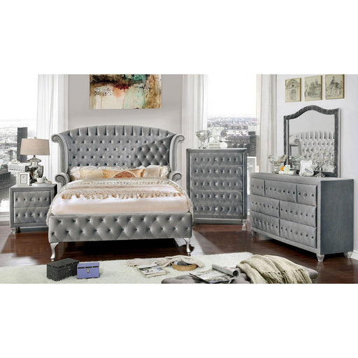 Alzir Gray 5 Pc. Queen Bedroom Set w/ Chest image