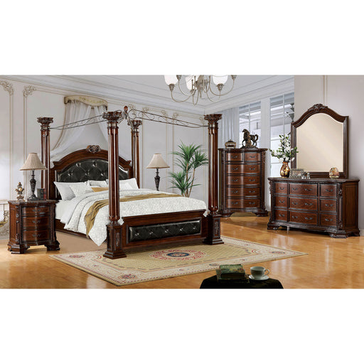 Mandalay Brown Cherry 5 Pc. Queen Bedroom Set w/ Chest image