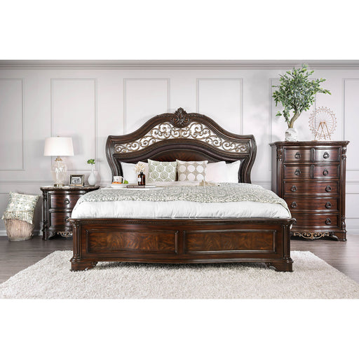 Menodora Brown Cherry 4 Pc. Queen Bedroom Set image