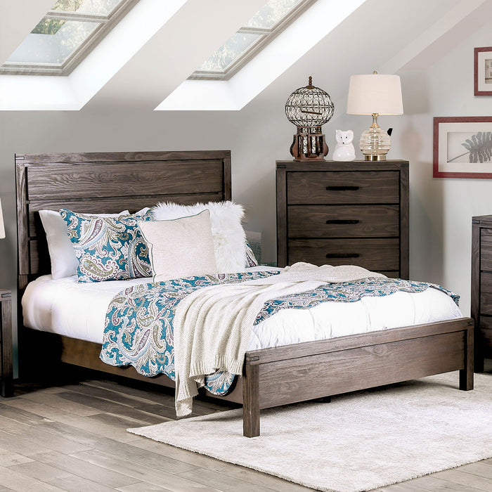 Rexburg Wire-Brushed Rustic Brown Cal.King Bed image