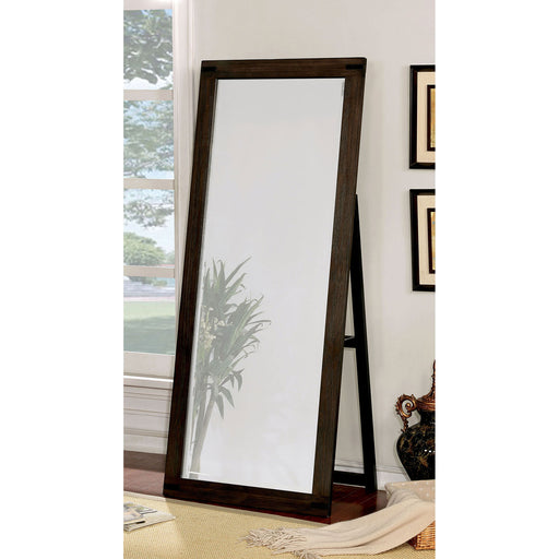 Rexburg Wire-Brushed Rustic Brown Standing Mirror image