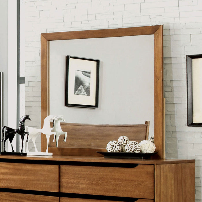 Lennart Oak Rectangular Mirror image