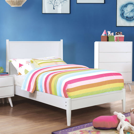 LENNART II White Twin Bed image