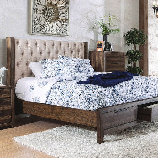 Hutchinson Rustic Natural Tone/Beige Cal.King Bed w/ Drawers image