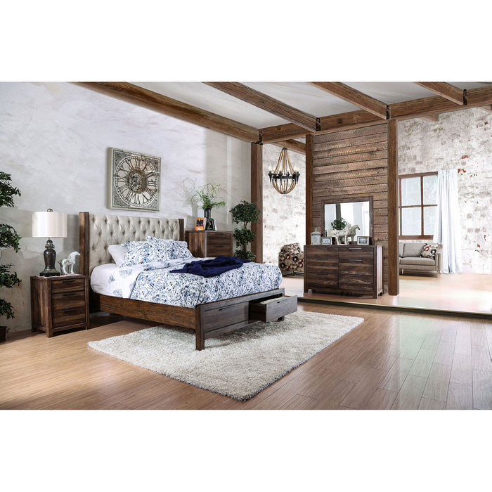 Hutchinson Rustic Natural Tone/Beige 5 Pc. Queen Bedroom Set w/ Chest image