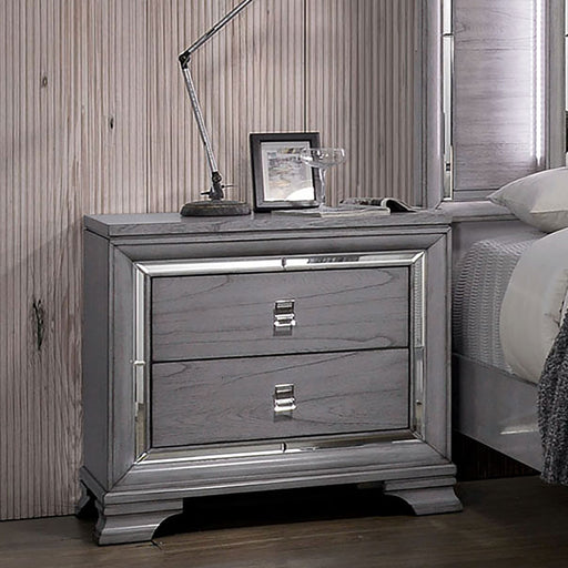 Alanis Light Gray Night Stand image
