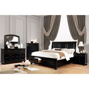 Castor Black 5 Pc. Queen Bedroom Set w/ Chest image