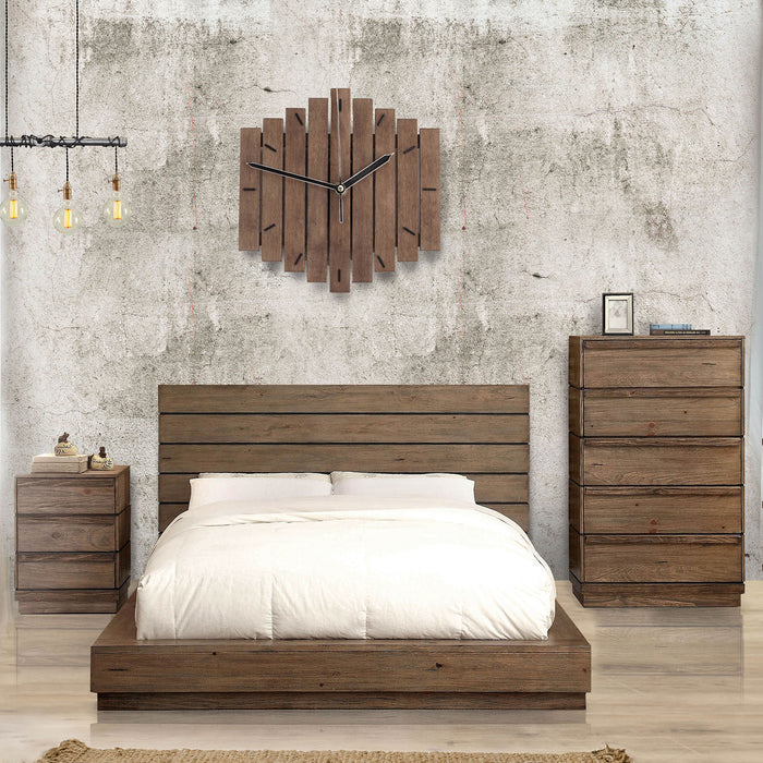 COIMBRA Rustic Natural Tone Cal.King Bed image