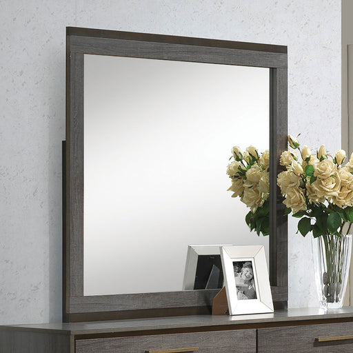 MANVEL Two-Tone Antique Gray Mirror image