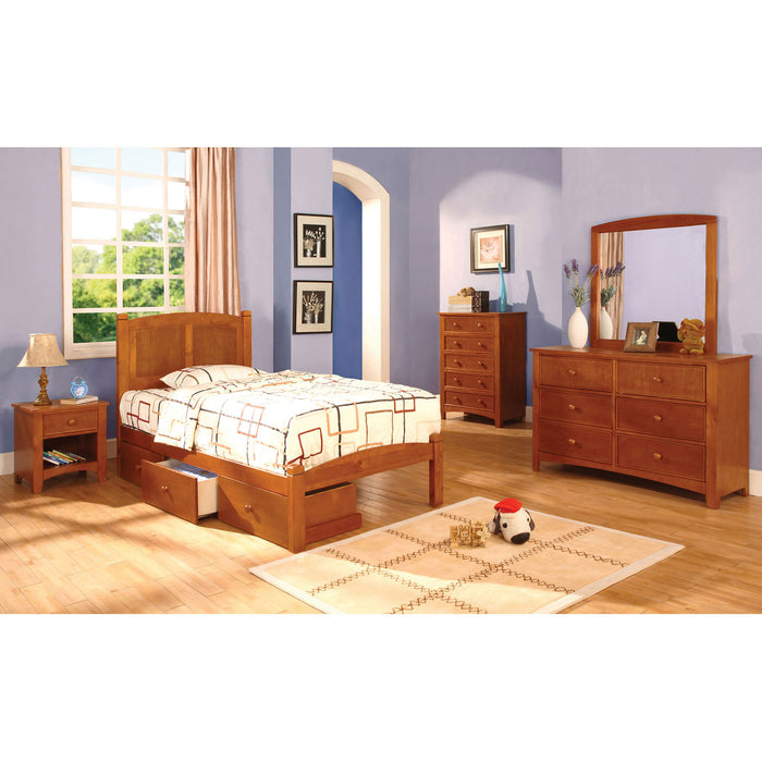 Cara Oak 4 Pc. Full Bedroom Set image