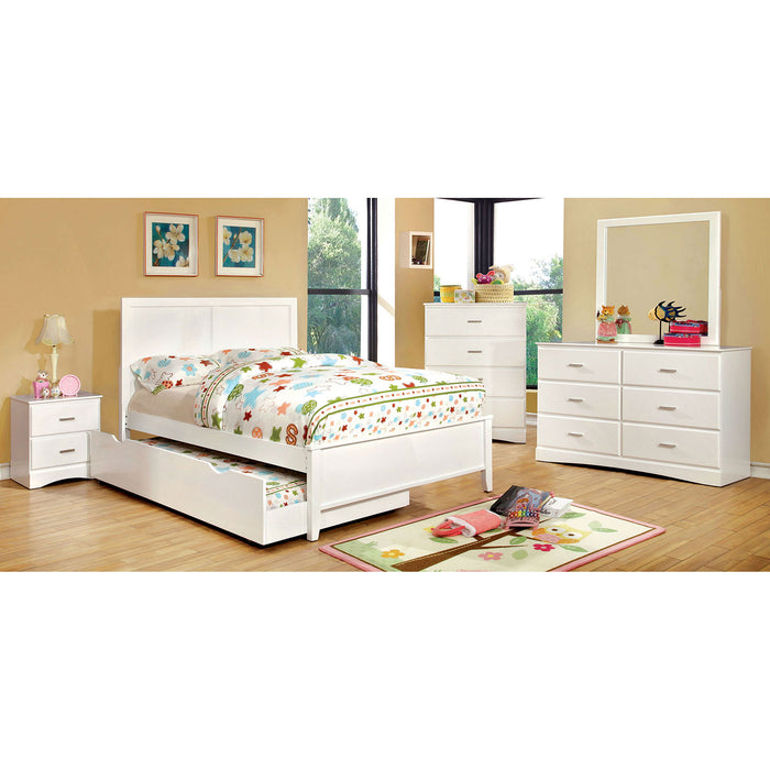 PRISMO White 4 Pc. Full Bedroom Set image