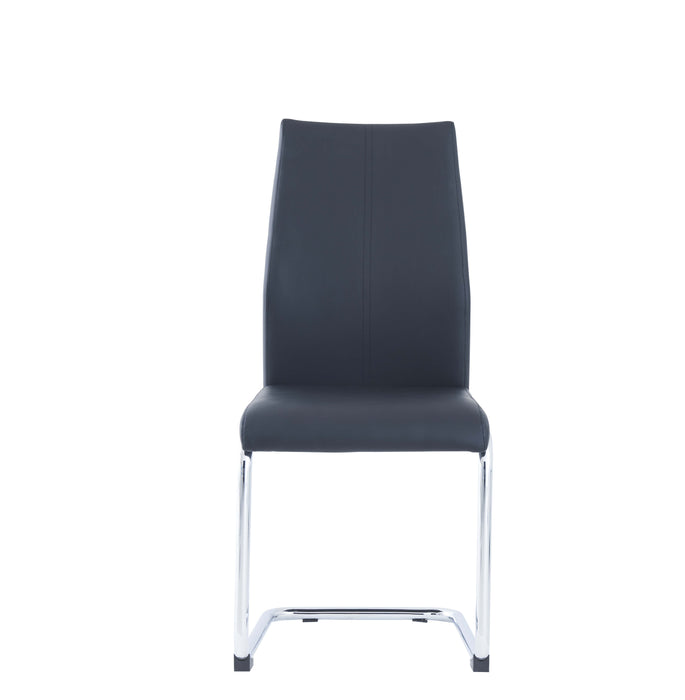 D41 DINING CHAIR BLK WITH BLK STITCH Set of 4 image