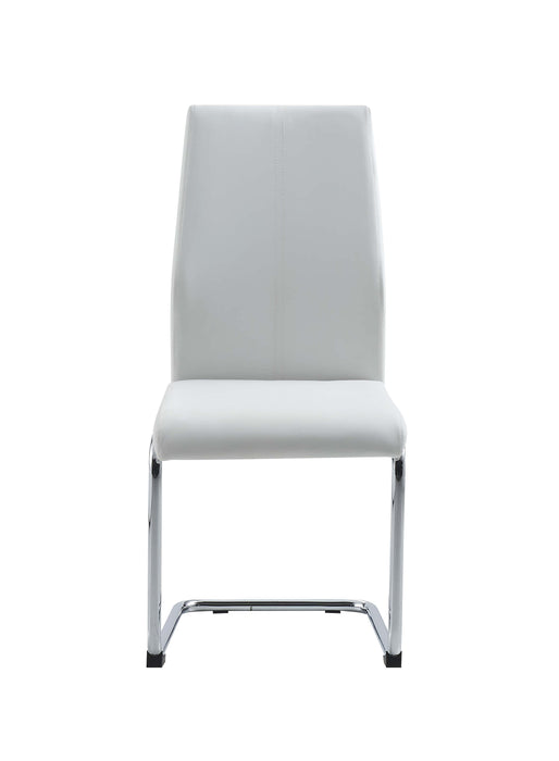 D41 DINING CHAIR WHT WITH WHT STITCH Set of 4 image