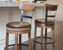 Load image into Gallery viewer, Pinnadel Signature Design by Ashley Barstool Set of 2