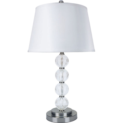 "Oona Silver/Clear 30""H Table Lamp (2/CTN) image"