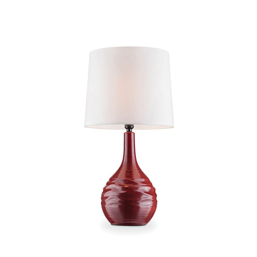 Ida Burgundy Table Lamp image