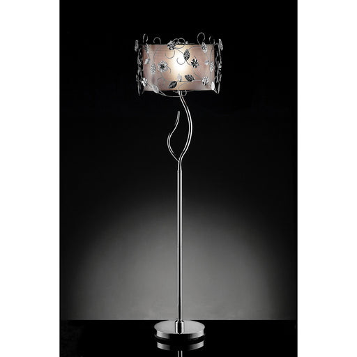 Elva Silver/Chrome Floor Lamp, Double Shade image