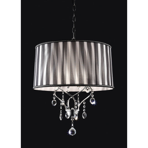 Arya Black/Chrome Ceiling Lamp, Hanging Crystal image
