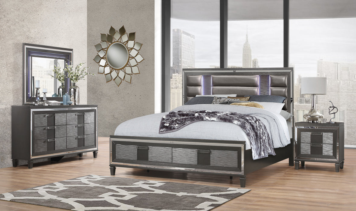 PISA KING BED METALLIC GREY image