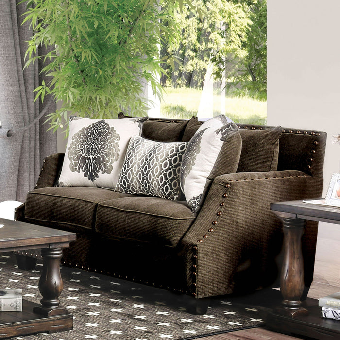 Cornelia Light Brown Love Seat image