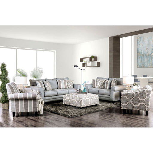 Misty Ivory/Pattern Sofa + Love Seat image