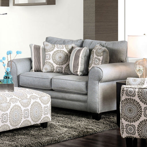 Misty Blue Gray Love Seat image