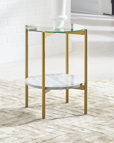 Wynora Signature Design by Ashley Round End Table image