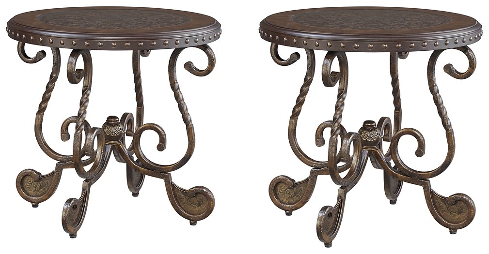 Rafferty Signature Design 2-Piece End Table Set