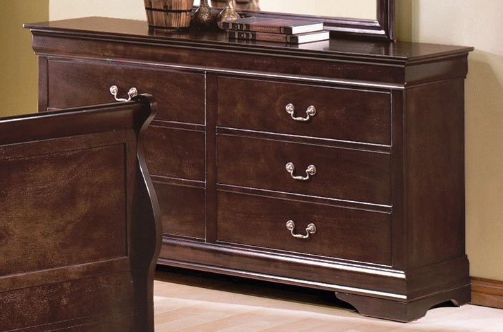 Crown Mark Furniture Louis Philip Dresser in Dark Cherry B3850-1 image