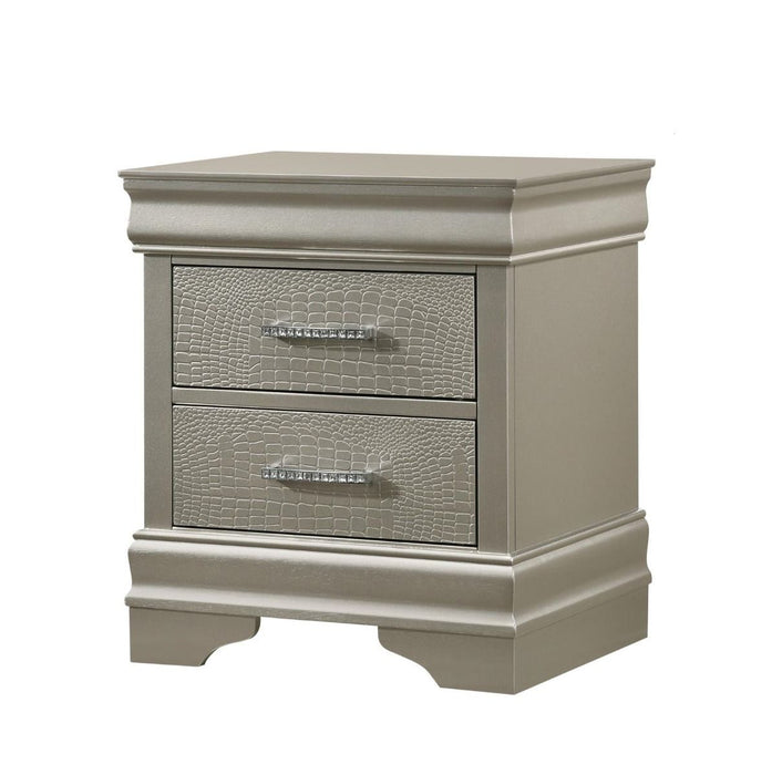 Crown Mark Amalia Nightstand in Silver B6910-2 image
