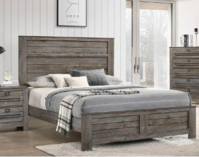 Crown Mark Bateson Queen Panel Bed in Brown B6960-Q image