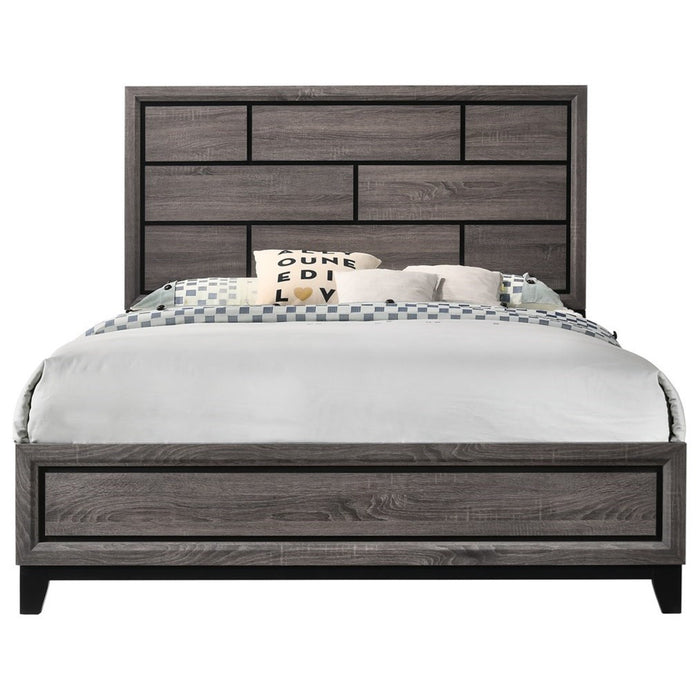 Crown Mark Akerson King Panel Bed in Grey image