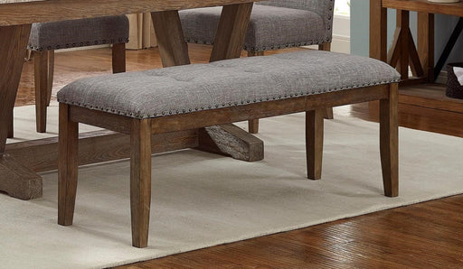 Crown Mark Vesper Bench in Brown/Gray 1211-BENCH image
