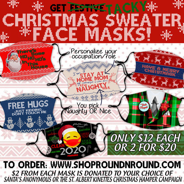 Ugly Christmas Sweater Masks