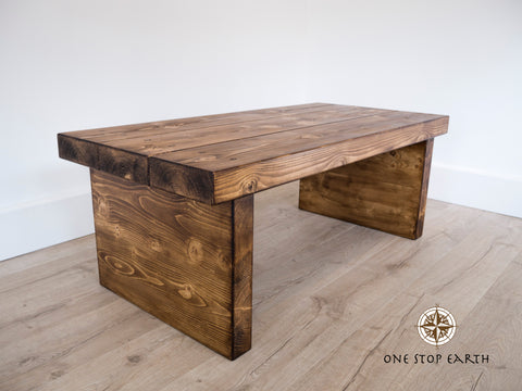 Rustic 3 Beam Coffee Table Large
