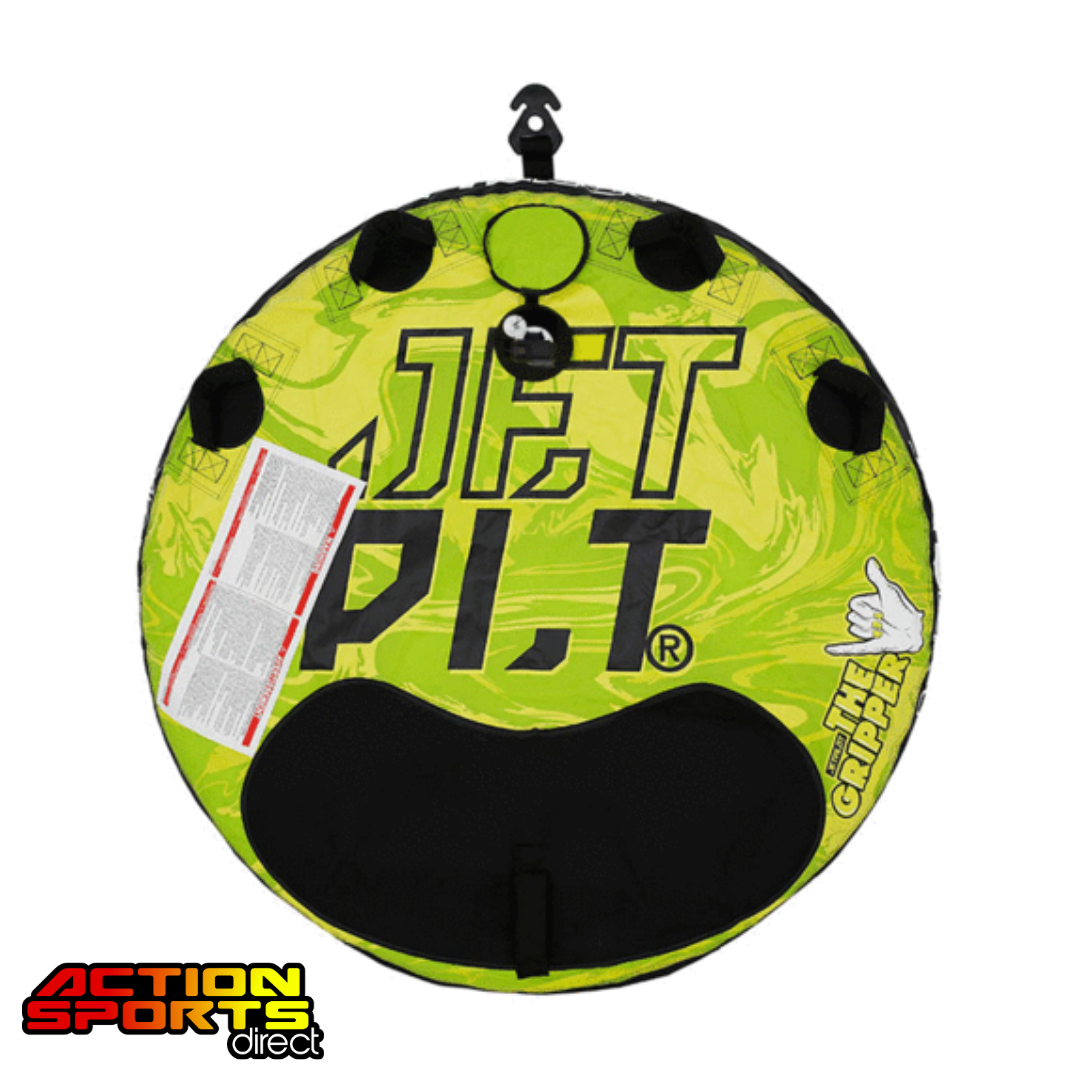 Jetpilot Gripper 2 Round Towable Green/Yellow