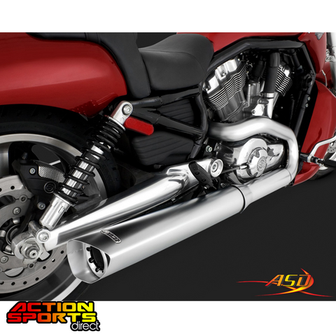 Vance & Hines - V-ROD Muscle Slip-On Exhaust (Polished)