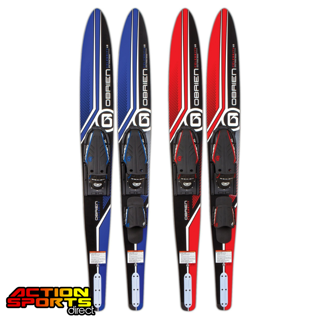 O'Brien Junior Celebrity 58'' Water Skis  Combo - Blue