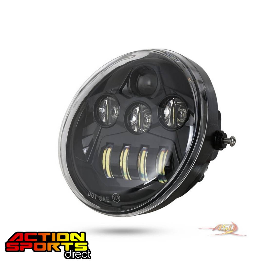 Teardrop Vrod LED Headlight - Black
