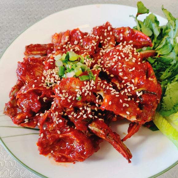 C2. Yangnyeom Gejang (Raw Crabs in Spicy Sauce) Meal