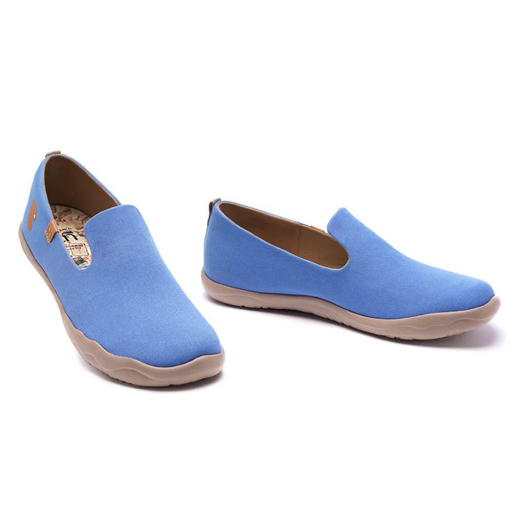 UIN Footwear Men Barcelona Canvas Denim Blue Canvas loafers