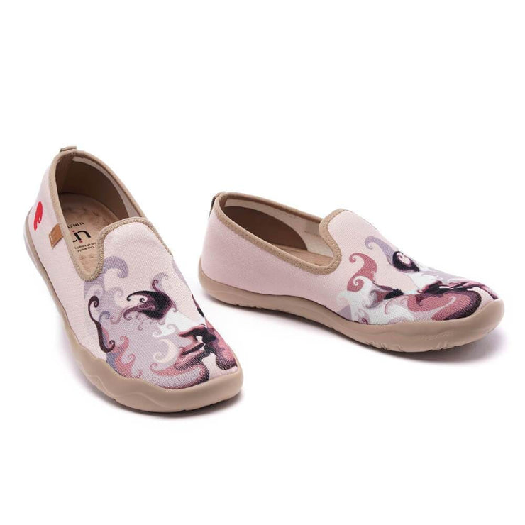 UIN Footwear Women Kiss Me Canvas loafers