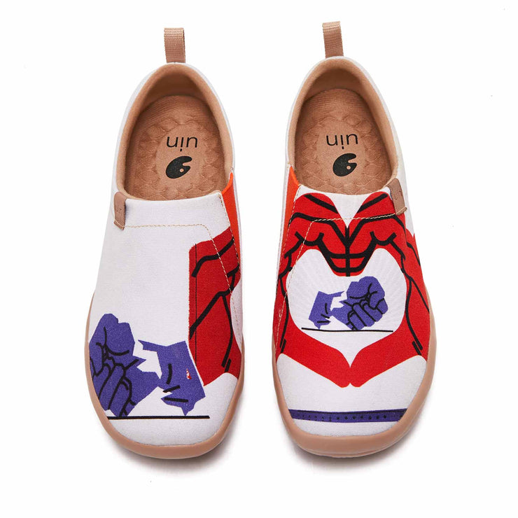 UIN Footwear Women Love Bravely Canvas loafers