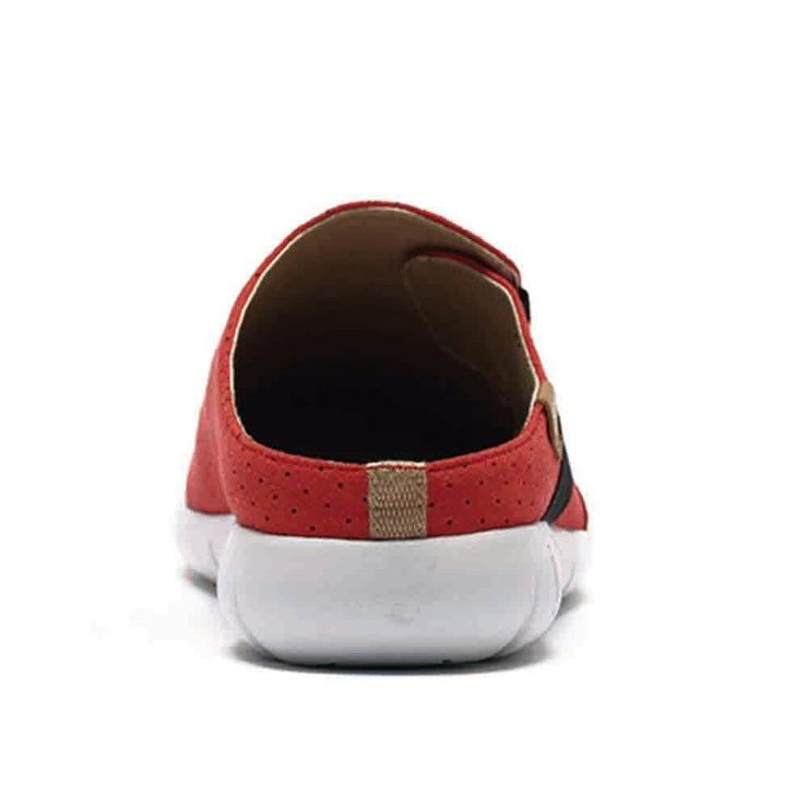 UIN Footwear Women Sidi Red Slipper Canvas loafers