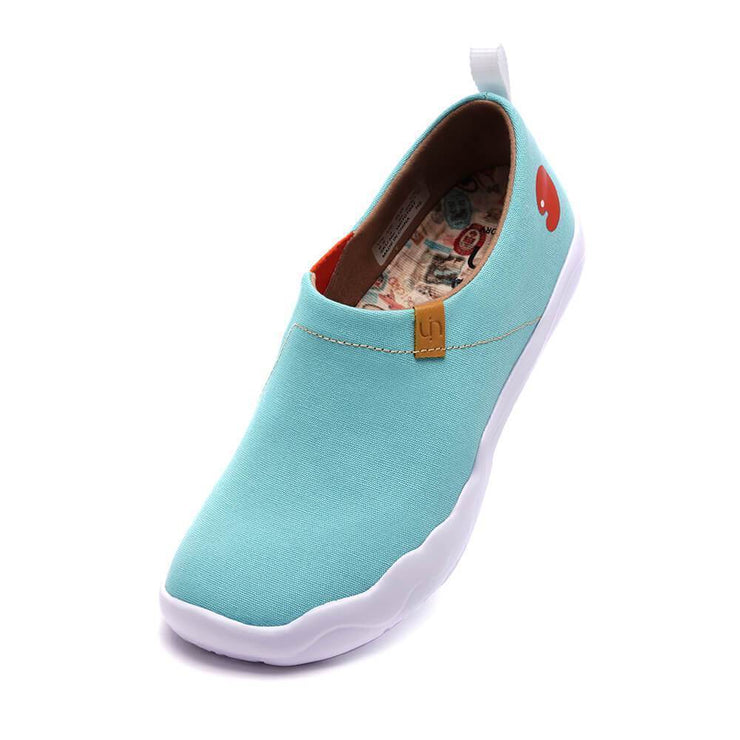 UIN Footwear Women Toledo Light Blue Canvas loafers