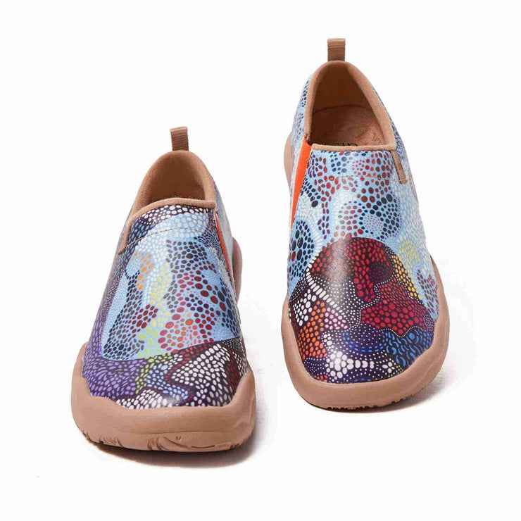 UIN Footwear Women Underwater Mosaic Canvas loafers