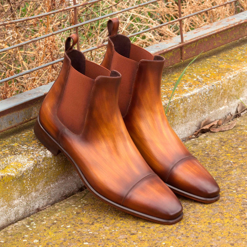 CHELSEA BOOT Cognac Crust Patina